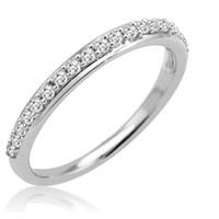 10K White Gold Diamond Anniversary Ring ( 1/4ct available sizes 5-8)