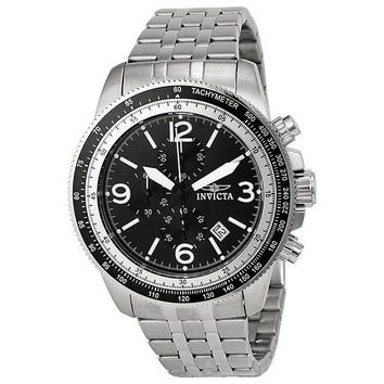 Invicta Specialty Chronograph Black Dial Stainless Steel Mens Watch 13960