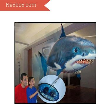 Remote Control Building Kit RC Shark Clown Fish Balloons Flying Shark Toys Inflatable Shark Nylon Creative Cool 1 Pieces Boys' Girls'