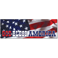"God Bless America USA US Flag Star Banner 9""x3"" bumper sticker decal"