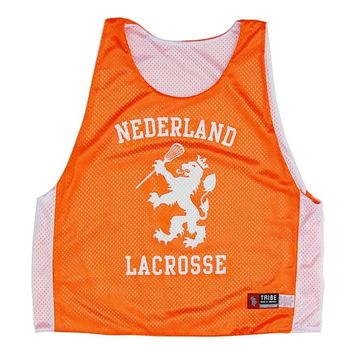 Holland Lion White and Orange Lacrosse Pinnie