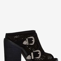 Nightwalker Blind Perforated Suede Mule