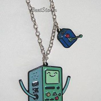 Licensed cool Adventure Time Finn And Jake BMO BEEMO Controller Pendant Necklace Licensed NWT