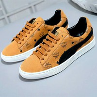 PUMA Suede & MCM Joint Limited Edition Sports Flat Casual Shoes F-A-FJGJXMY