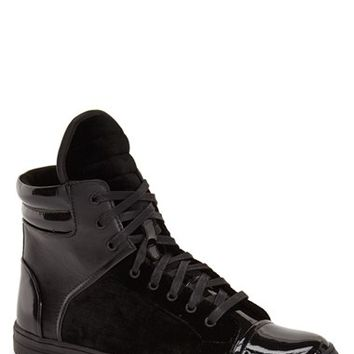 Men's Kenneth Cole New York 'Double Header' Zip High Top Sneaker,