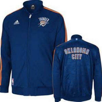Oklahoma City Thunder NBA Adidas OKC On-Court Warm up Jacket NWT new with tags
