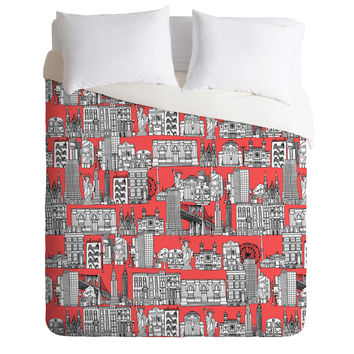 Sharon Turner New York Coral Duvet Cover