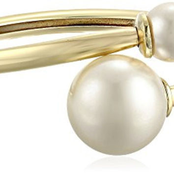 Kenneth Jay Lane Bracelet with Faux-Pearl Ends