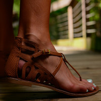 The Athena Sandals, Camel