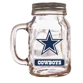 Duckhouse 16 Ounce Mason Jar - Dallas Cowboys