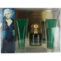 Fancy Nights By Jessica Simpson Eau De Parfum Spray 3.4 Oz & Body Lotion 3 Oz & Bath & Shower Gel 3 Oz