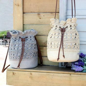 Summer Handmade Crochet Shoulder Bag