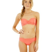 Billabong Surfside Bustier Separate Top - Neon Coral - 6531575				 |  			Billabong 					Australia