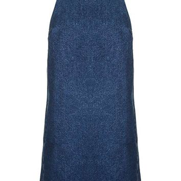 PETITE Denim Mini Pinafore Dress