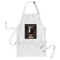 Dark Beer in Tulip Glass Porter Stout Painting Art Adult Apron