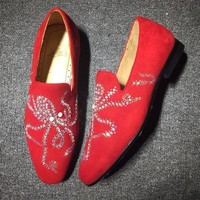 DCCK2 Cl Christian Louboutin Loafer Style #2330 Sneakers Fashion Shoes