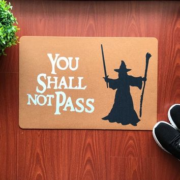 Autumn Fall welcome door mat doormat Funny  You shall Not Pass Carpet Entrance Rug Welcome Mats For Front Door Harry Potter Wizards Welcome Muggles Tolerated AT_76_7