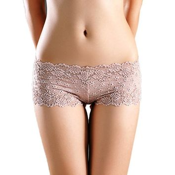 Lace Boyshorts Floral Pattern