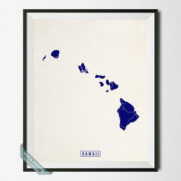 Hawaii Print, Hawaii Poster, Hawaii Map, United States, Street Map, Office Decor, Map Poster, Home Decor, Wall Art