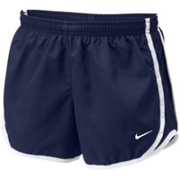Girls Nike Tempo Running Shorts Navy/White at Sport Seasons