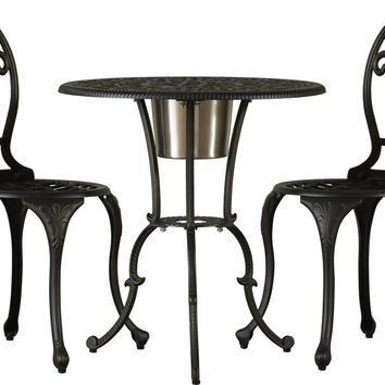 Metcalfe 3 Piece Bistro Set With Ice Bucket
