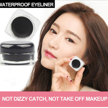 1Pcs Hot Sale Black Long-lastingt Eye Liner Eyeliner Gel Makeup Cosmetic Brush Makeup Set