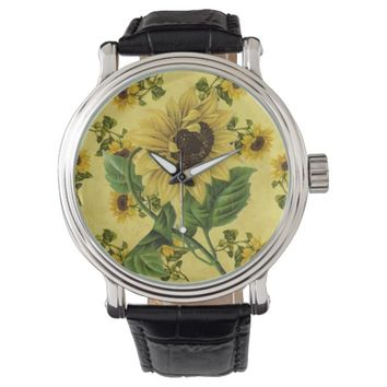 Vintage Sunflowers Watch