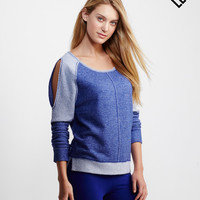 LLD Long Sleeve Cold-Shoulder Terry Top