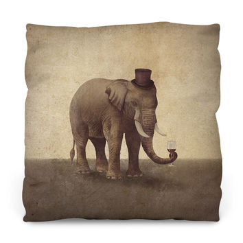 A Fine Vintage Outdoor Throw Pillow