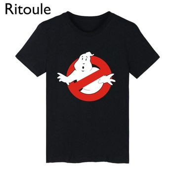 Ritoule 2017 Shirt Ghostbusters T shirt Men Funny Ghost Busters Movie tshirts Cotton Men Summer Short Sleeve