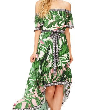 Palm Island Off Shoulder Dress
