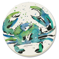 Brushed Crab Absorbent Coasters Set of 4 By Counter Art