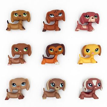 Rare Animal pet shop DACHSHUND cute little sausage dog lps toy for kids Christmas present