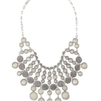 Lucky Brand Pave Collar Necklace Womens - Silver (One Size)