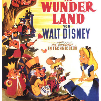 Alice in Wonderland 11x17 Movie Poster (1951)