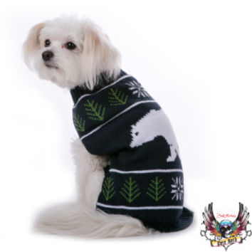 Bret Michaels Pets Rock™ Polar Bear Fair Isle Holiday Sweater | Sweaters & Coats | PetSmart