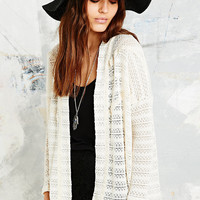 Pins & Needles Slubby Trimmed Cardigan - Urban Outfitters