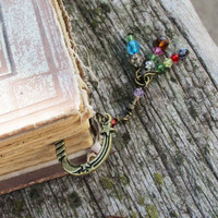 Bronze Metal Beaded Bookmark