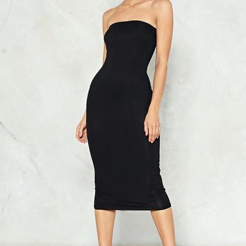 Simple as That Strapless Dress