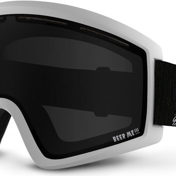 Von Zipper Cleaver Goggles - White Satin/Blackout Lens