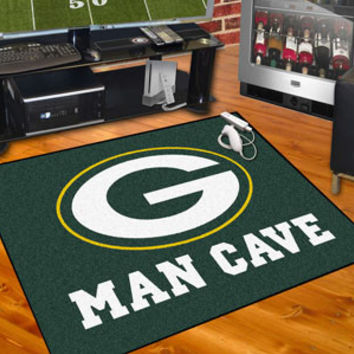 "NFL - Green Bay Packers Man Cave All-Star Mat 34""x45"""