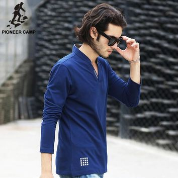 new fashion summer style men collar polo shirt solid men polo cotton fitlong sleeve we