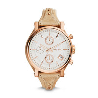 Original Boyfriend Chronograph Sand Leather Watch - $135.00