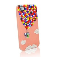 Up Colorful Rhinestone Handmade Case For iPhone 4/4s Pink