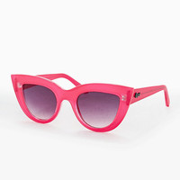 Quay Kittie Cateye Sunglasses in Pink - Urban Outfitters