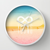 Forever Young Wall Clock by M Studio
