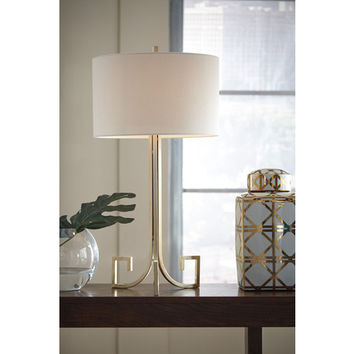 L207124 Jankin Metal Table Lamp (1/CN) - Champagne - Free Shipping!