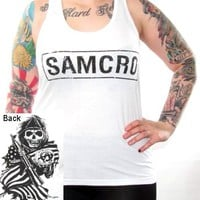 Sons Of Anarchy Girls Tank Top - Samcro Flag