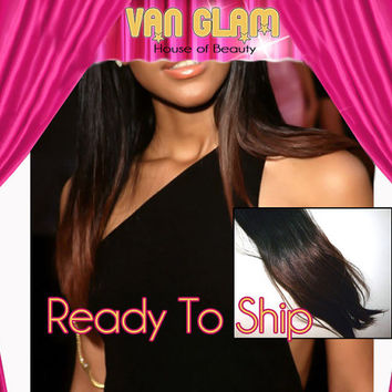 "Black to Auburn Ombre // Clip In // Hair Extensions // 20"" // 100% Cuticle Remy // Ready To Ship"