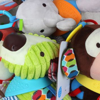 Baby Toys Plush Doll music Rattles Car Bed hanging Soft Baby bed Handing 18cm Cartoon mobile Animal Early Educational skkbaby